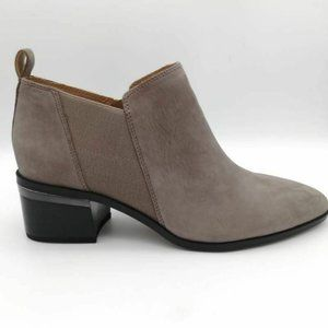 Franco Sarto Womens L-Arden Ankle Boots Gray 9.5